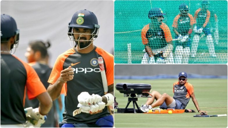 Prithvi Shaw, Virat Kohli, Kuldeep Yadav and Other Indian Players Sweat It Out at Practise Session Before Final Test Match Against West Indies: View Pictures and Video!