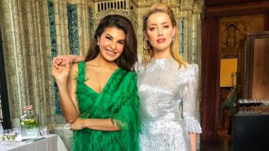 Jacqueline Fernandez Makes Amber Heard's Acquaintance At The One Young World Event - View Pics
