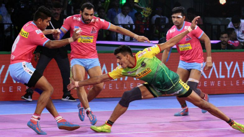 Patna Pirates vs Jaipur Pink Panthers, PKL 2018-19 Match Video Highlights: Patna Begin Home Leg With a Crushing Win Over Jaipur 41-30!
