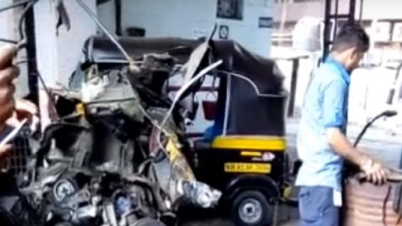 Kandivali: CNG Cylinder Blast at Petrol Pump, Three Injured; Watch Video