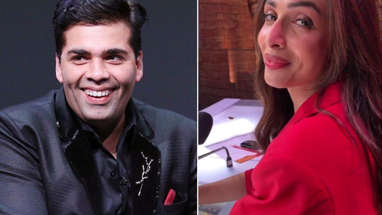 Malaika Arora BLUSHES When Karan Johar Teases Her of 'Starting Something New'! - Watch Video