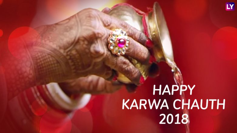 Karwa Chauth 2018 Wishes for Husband: Best WhatsApp Images, Messages in Hindi, GIF Photos, Facebook Quotes and Status to Wish Him a Happy Karva Chauth