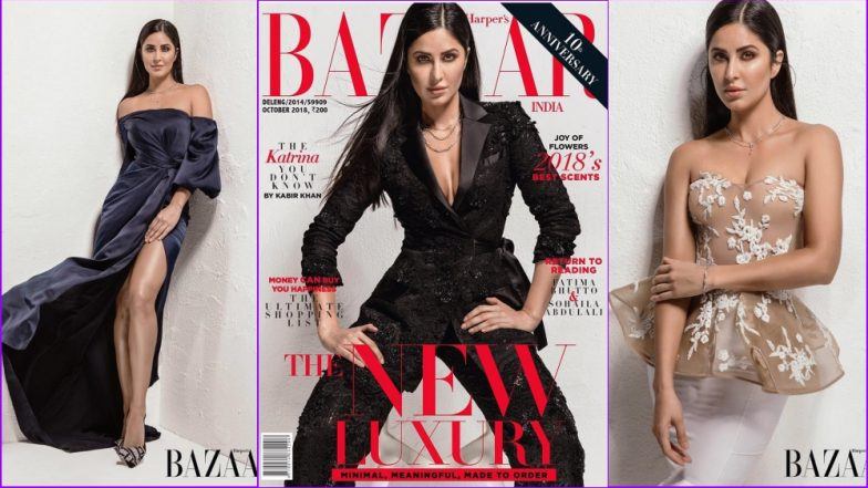 Katrina Kaif Giving Boss Lady Vibes in a Black Pant Suit on Harper's Bazaar India Magazine Cover (See Pics)