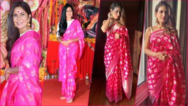 Katrina Kaif or Fatima Sana Shaikh, Which Thugs of Hindostan Actress Nailed the Pink Saree Look? (See Pictures)
