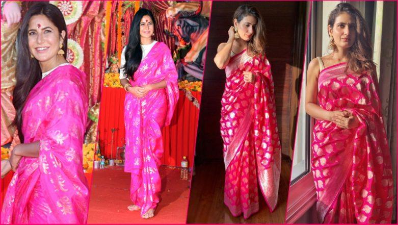 Katrina Kaif or Fatima Sana Shaikh, Which Thugs of Hindostan Actress Nailed the Pink Saree Look? (See Pictures)
