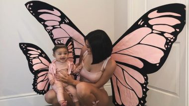 Kylie Jenner And Stormi Webster Twinning In Pink Butterfly Costumes For Halloween Is The Cutest Thing You'll See On the Internet Today!
