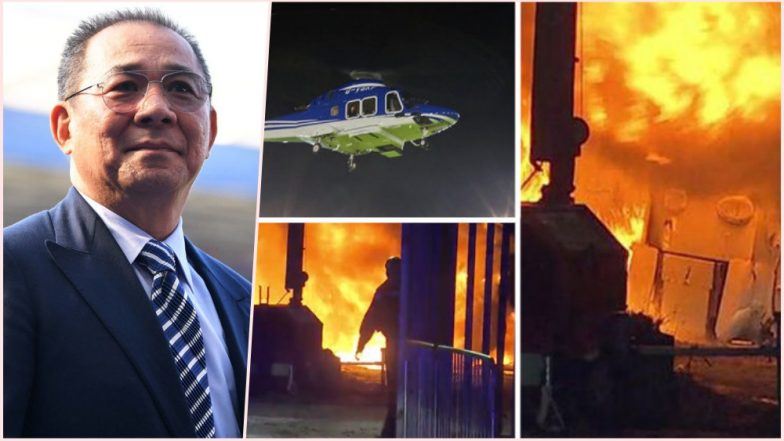 LCFC Owner's Helicopter Crash Video: Vichai Srivaddhanaprabha, King Power Chairman Feared Dead in Horrific Leicester City Chopper Accident