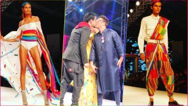 Suneet Varma and Husband Rahul Arora Kiss As Fashion Fraternity Celebrates Genderless Love on LMIFW 2018 Runway