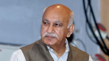 Youth Congress Activists Hold Protest Against M J Akbar, Demand His Resignation over Allegations of Sexual Misconduct