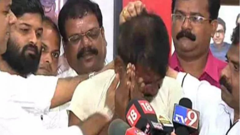 MNS Workers Thrash Migrant Worker From Bihar Accused of Sexual Abuse at Press Conference in Thane, Watch Video