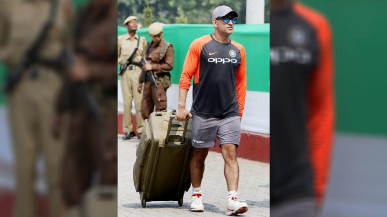 MS Dhoni Determined to Deliver Under Pressure; Slogs It Out in Nets Ahead of Fourth ODI Against West Indies