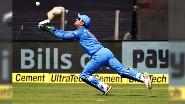 MS Dhoni Diving Catch Against WI Video: Watch MSD Take One of the Best Catches of All Time, a Day After Selectors Dropped Him From T20I Squad!