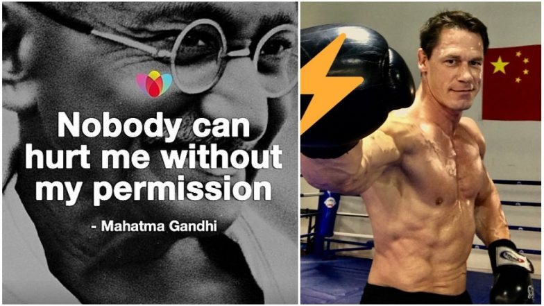 John Cena Conveys Wishes on Gandhi Jayanti: Former WWE Champion Posts a Motivational Message on his Instagram Account!