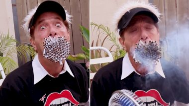 Man With Big Mouth Smokes 130 Cigarettes at One Time, Watch Shocking Video