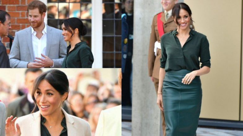 Meghan Markle, Duchess Of Sussex Looks More Like Rachel Zane Of Suits In This Bottle Green Ensemble - View Pics