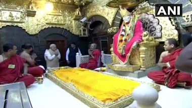 Shirdi Sai Baba 100th Maha Samadhi Day: PM Narendra Modi Visits Temple Along With Maharashtra CM Devendra Fadnavis