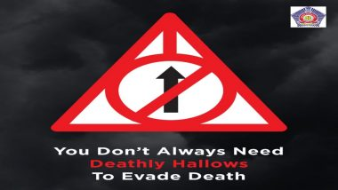 Mumbai Police Uses Harry Potter and The Deathly Hallows Reference for Road Safety Warning, Wins Hearts Once Again
