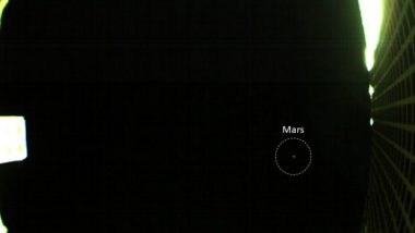NASA CubeSat Beams Back Image of Mars