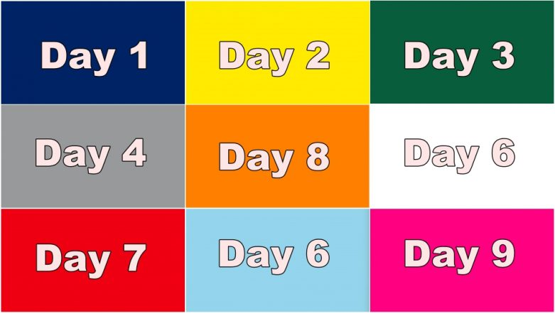 Navratri 2018 Colours List for Free PDF Download Online: Dates, Day-Wise Nine Colours to Wear During Navdurga Festival With Images and Video!