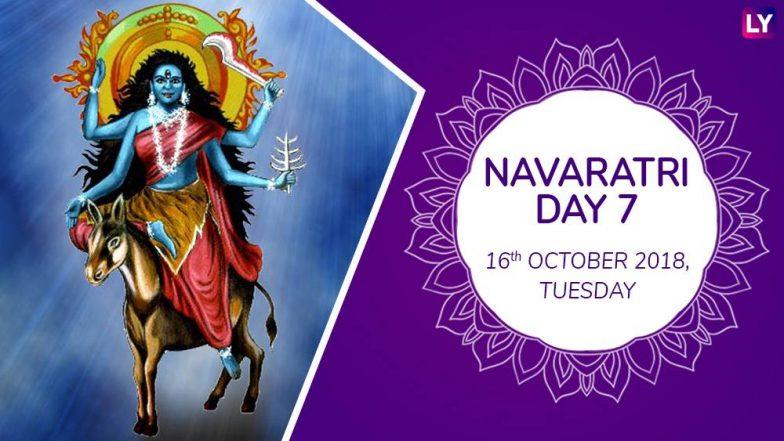Navaratri 2018 Day 7KalaratriPuja:Worship the Seventh Form of Goddess Durga With Mantras This Navdurga Festival