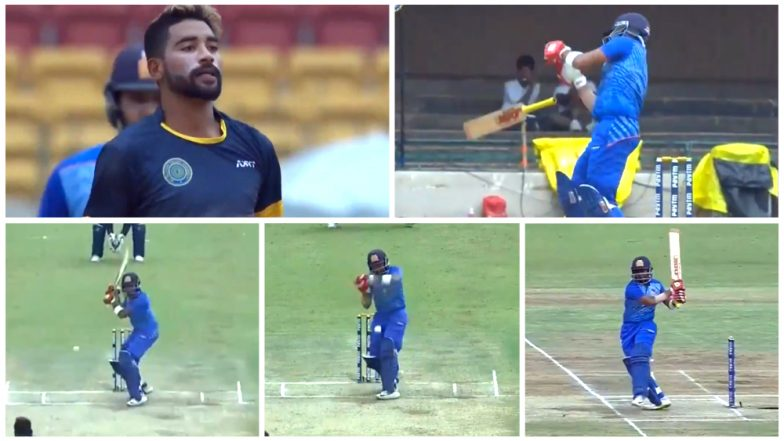 Mohammed Siraj Sledges Prithvi Shaw, Gets Dispatched for 6, 6, and 4 Next in Vijay Hazare Trophy 2018 SF Match – Watch Video Highlights