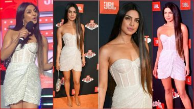 Priyanka Chopra at JBL Fest 2018: Indian Actress Rocks Racy Strapless Corset Dress at Las Vegas Music Festival (See Pics)