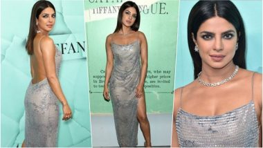 Priyanka Chopra in This Sexy Silver Backless Dress for Tiffany & Co's Blue Book Collection is Giving Major Fashion Goals (See Pics)