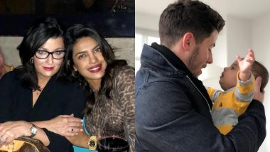 How Cute! Priyanka Chopra Spends Time With Nick Jonas' Mother While He Chills With Her Nephew - View Pics