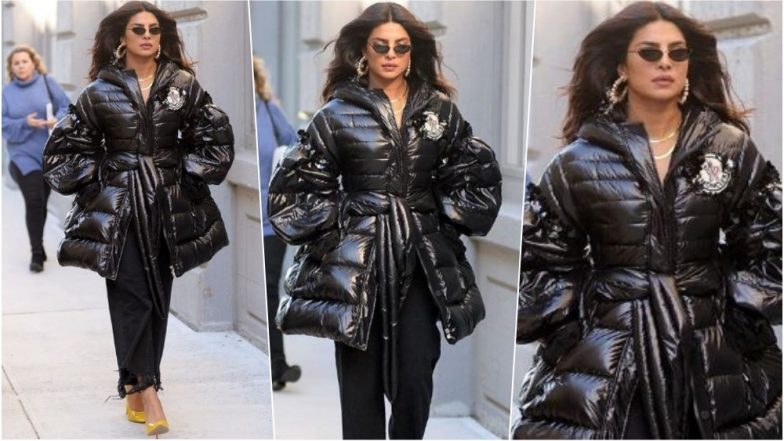 Priyanka Chopra is Ready to Run the World in Black Puffy Jacket, Which Not Everyone Can Pull Off (See Pics)