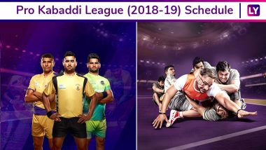 Pro Kabaddi League 2018-19 Schedule in PDF: Full Timetable, Fixtures, All Teams' Match Dates, Timings, and Venue Details of VIVO PKL Season 6