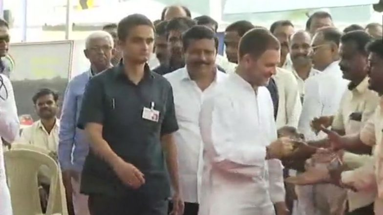 Rafale Deal Row: Rahul Gandhi Meets HAL Employees in Bengaluru, Says Hindustan Aeronautics a Strategic Asset For India