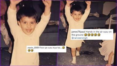 Ranveer Singh Shares His Cute Childhood Pic, but Why Are Fans Asking If He Did 'Susu' on the Floor?