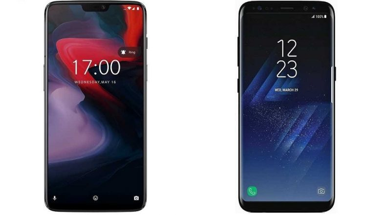 OnePlus 6 & Samsung Galaxy S8 Smartphones Gets Massive Discounts Up to Rs 16,000 During Festive Online Sales on Flipkart & Amazon