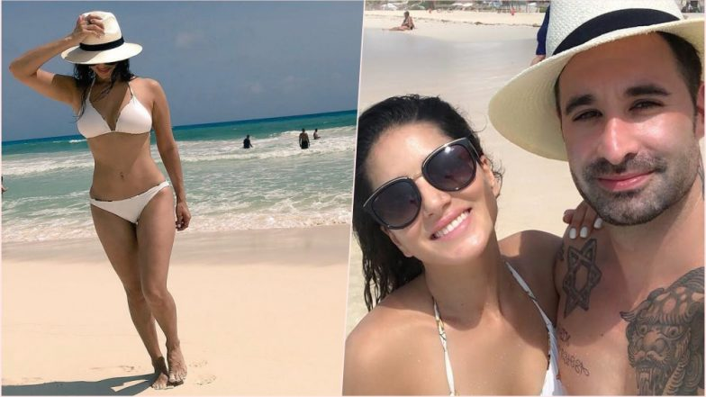 Sunny Leone Is Looking 'Hot, Hot, Hot' in White Bikini and Hat! See Pic of Sexy Actress Chilling at Cancun Beach in Mexico