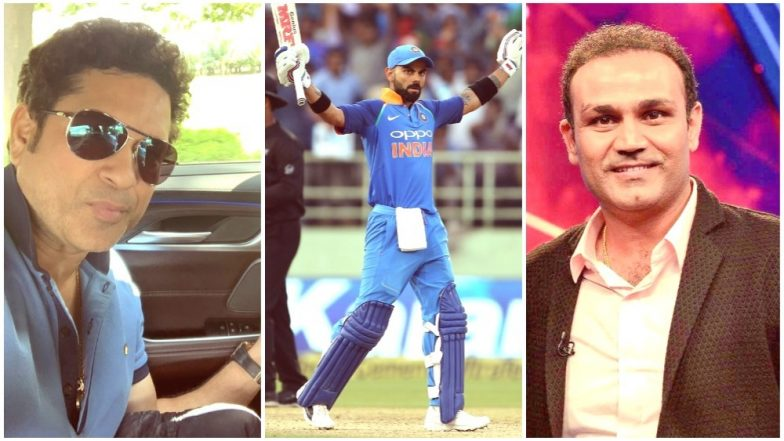 Virat Kohli Becomes Fastest to Score 10,000 Runs in ODI Cricket: Here's How Sachin Tendulkar and Virender Sehwag Wished the 'Indian Run Machine'