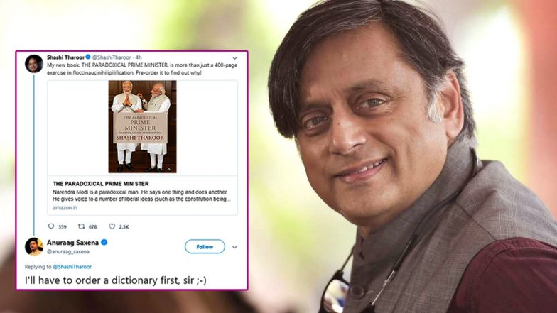 Floccinaucinihilipilification Shashi Tharoor Introduces His New