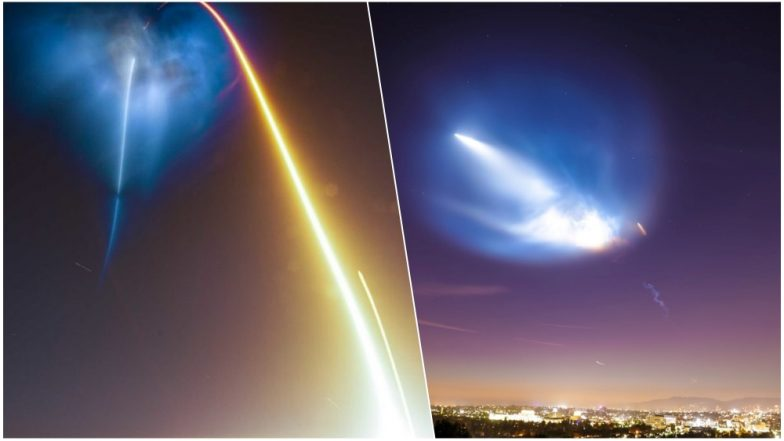 SpaceX Falcon 9 Rocket Launch in California Lights up The Sky Mysteriously, People Guess Alien and UFOs, Watch Pics and Videos!