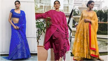 Diwali 2018 Outfit Inspiration – Sonam Kapoor: From Lehenga to Anarkali, See How to Style Traditional Attires This Festive Season (See Photos)