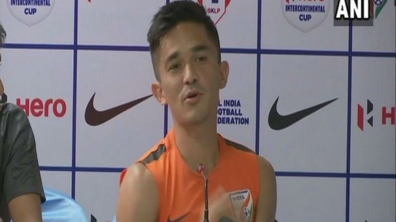 India vs China Football Friendly Match: Captain Sunil Chettri Says, 'Never Thought About My Personal Goals'