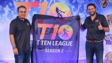 T10 Cricket League 2018: Shahid Afridi, Rashid Khan, Shoaib Malik & Other International Stars Adorn Shaji Ul Mulk's T10 2nd Season