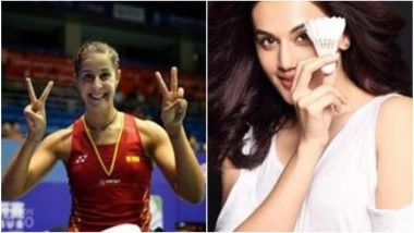 Taapsee Pannu Says She Is Huge Fan of Carolina Marin; Badminton Star to Play for Her Team in Premier Badminton League 2018