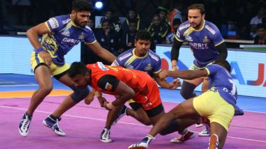 PKL 2018–19 Video Highlights: Pawan Sehrawat, Kashiling Adake Star as Bengaluru Bulls Defeat Tamil Thalaivas 44-35