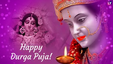 Durga Puja 2018 Greetings: Navratri WhatsApp Messages, GIF Images, Facebook Status, Quotes & SMSes to Wish Shubho Pujo on Durgostav