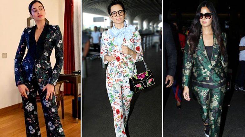 Janhvi Kapoor, Kangana Ranaut, Katrina Kaif: Celebs Are Obsessed With Floral Pantsuits and We Are Totally Loving It