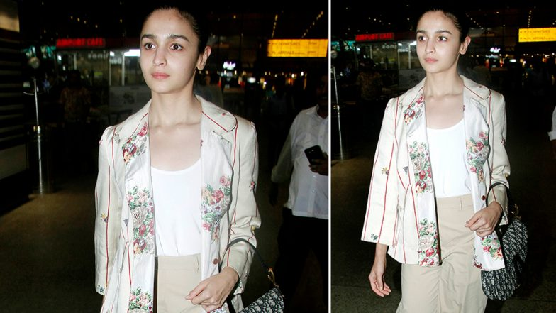 Alia Bhatt Makes A Plain-Jane Appearance At The Airport As She Returns From Her US Rendezvous - View Pics