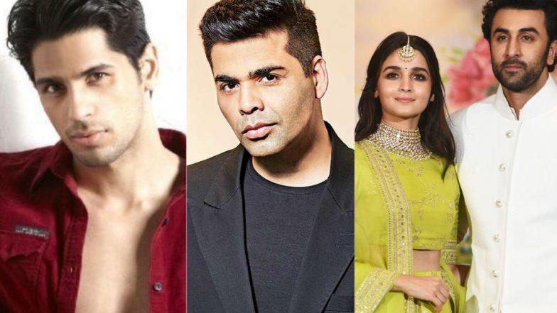 Sidharth Malhotra Skipped Karan Johar's Bash Yesterday and We Wonder If It Has Anything to Do With Lovebirds Alia Bhatt and Ranbir Kapoor?