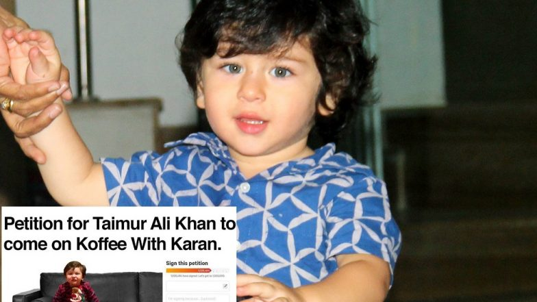 This Petition for Taimur's Debut on Karan Johar's Koffee With Karan Will Make Fans of the Chote Nawaab Happy