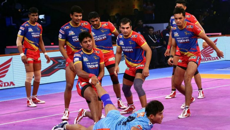 PKL 2018–19 Video Highlights: Bengal Warriors' Winning Streak Come to an End, UP Yoddha Force a 40-40 Draw