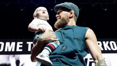 Irish Professional Mixed Martial Artist Conor McGregor's Son Imitates Dad's Walk Ahead of UFC 229 - Watch Video
