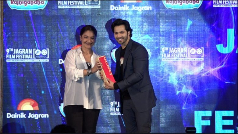 Varun Dhawan Takes Home The Best Actor Male Trophy At The Jagran Film Festival For 'October'!